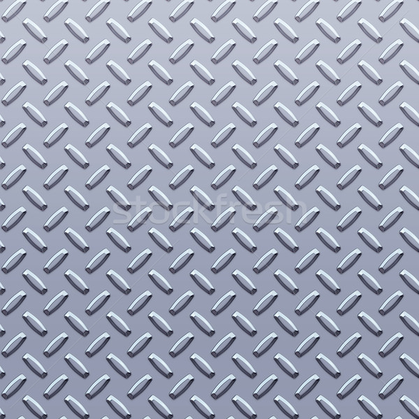 Stock photo: steel diamond plate