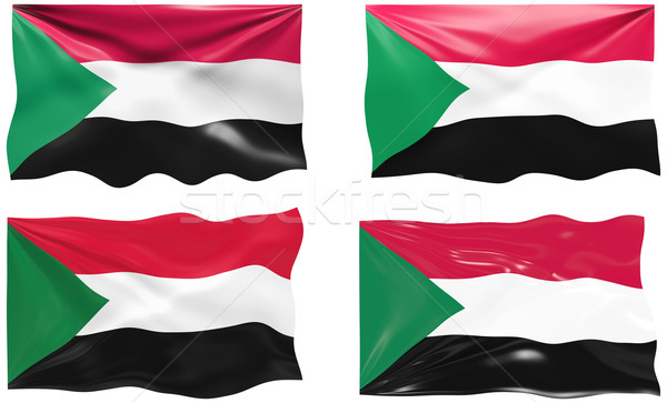 Banderą Sudan obraz Zdjęcia stock © clearviewstock