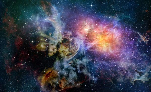 Głęboko przestrzeń kosmiczna galaktyki gwiazdki mgławica Zdjęcia stock © clearviewstock