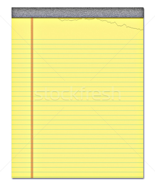 Jaune notepad Nice image page déchirée Photo stock © clearviewstock