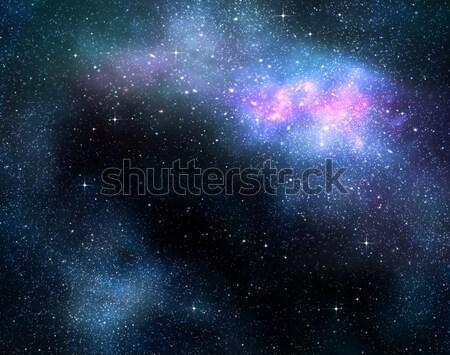 Profundo espacio exterior nebulosa galaxia estrellas Foto stock © clearviewstock