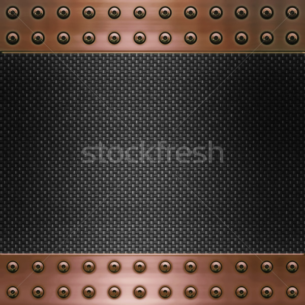 carbon fibre and copper background Stock photo © clearviewstock