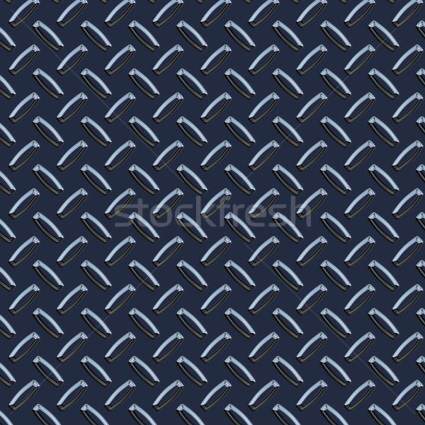 dark blue diamond plate  Stock photo © clearviewstock
