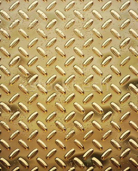 rough gold diamond plate Stock photo © clearviewstock
