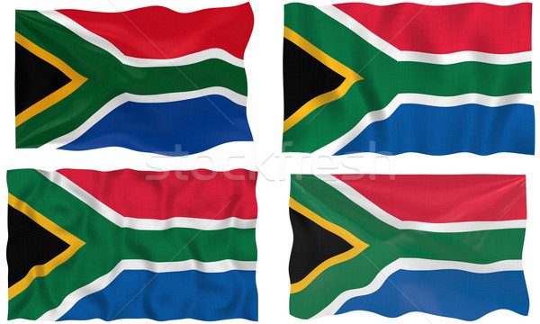 Vlag South Africa groot afbeelding Stockfoto © clearviewstock