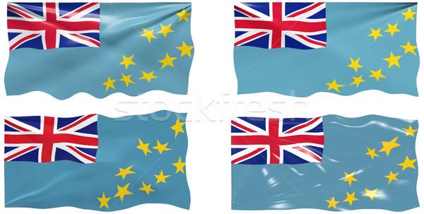 Bandeira Tuvalu imagem Foto stock © clearviewstock