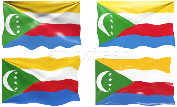 Flag of the Comoros Stock photo © clearviewstock