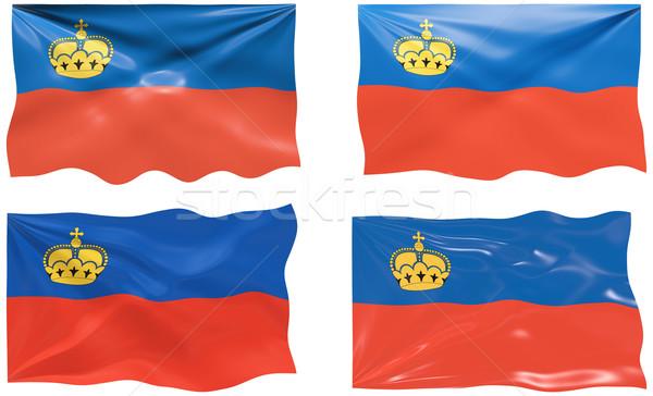 Bandiera Liechtenstein immagine Foto d'archivio © clearviewstock