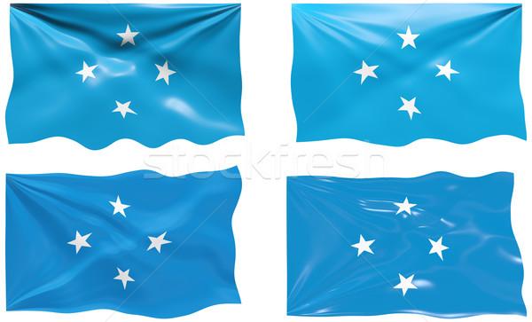 Bandeira Micronésia imagem Foto stock © clearviewstock
