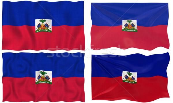 Bandiera Haiti immagine Foto d'archivio © clearviewstock