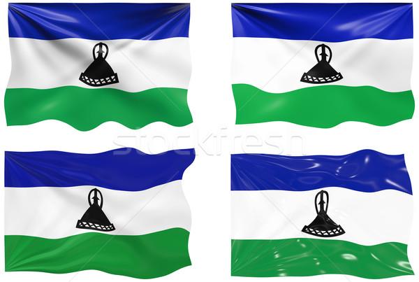 Сток-фото: флаг · Лесото · изображение