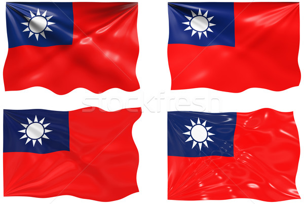Flag of Republic of China Taiwan Stock photo © clearviewstock