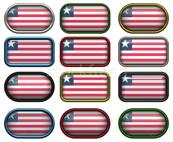 12 buttons of the Flag of Liberia Stock photo © clearviewstock