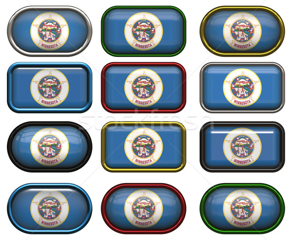 12 buttons of the Flag of Minnesota Stock photo © clearviewstock