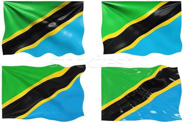 Bayrak Tanzanya muhteşem görüntü Stok fotoğraf © clearviewstock