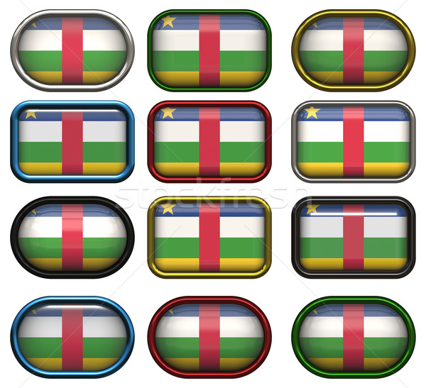twelve buttons of the Flag of Central African Republic Stock photo © clearviewstock