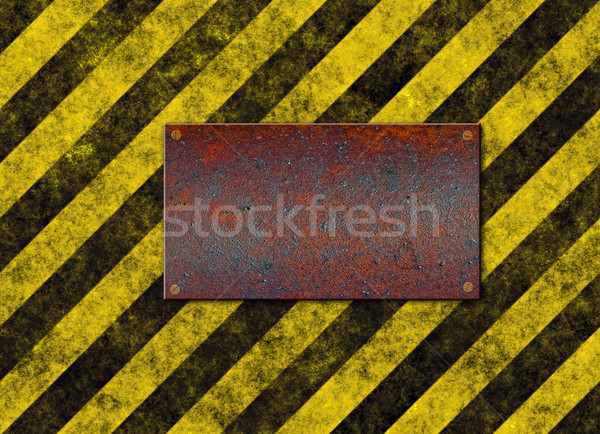 Veszély csíkok fogkő öreg koszos citromsárga Stock fotó © clearviewstock
