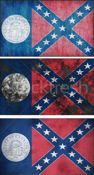 флаг Грузия изображение фон грязные Сток-фото © clearviewstock