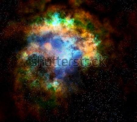 Uzay boşluğu bulut nebula Yıldız derin gaz Stok fotoğraf © clearviewstock