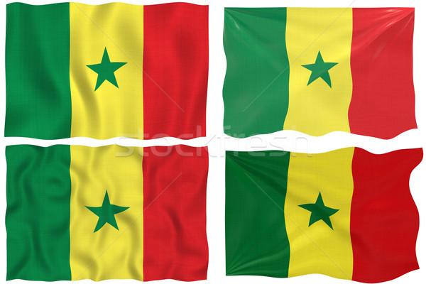Bandiera Senegal immagine Foto d'archivio © clearviewstock
