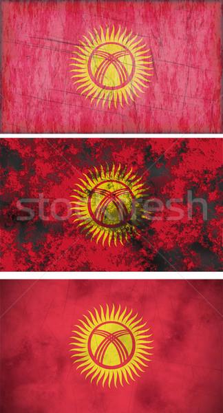Bayrak Kırgızistan muhteşem görüntü arka plan kirli Stok fotoğraf © clearviewstock