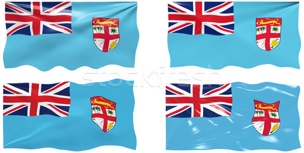 Vlag Fiji groot afbeelding Stockfoto © clearviewstock