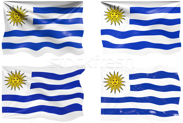 Bandeira Uruguai imagem Foto stock © clearviewstock