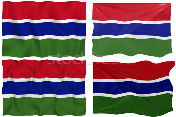 Flag of Gambia Stock photo © clearviewstock