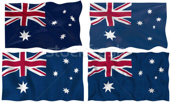 Zászló Ausztrália nagyszerű kép Stock fotó © clearviewstock