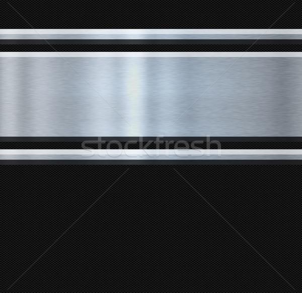 Roestvrij staal koolstof vezel abstract afbeelding technologie Stockfoto © clearviewstock