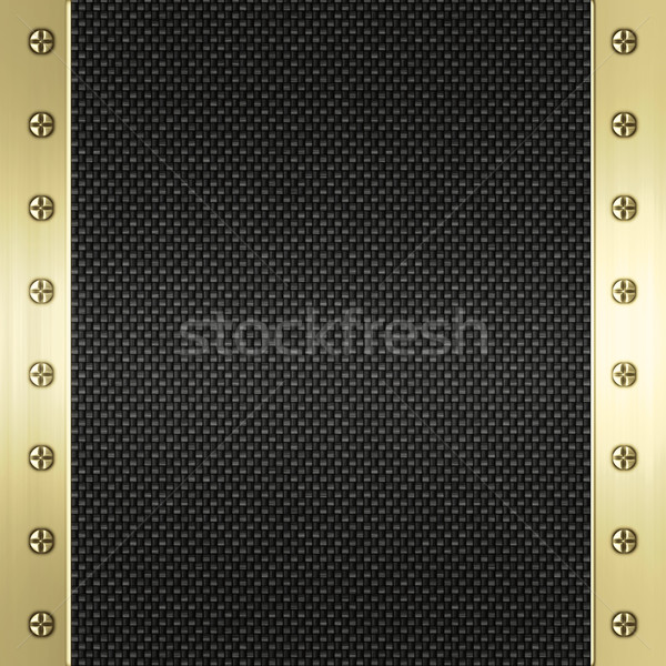 carbon fibre and gold background Stock photo © clearviewstock