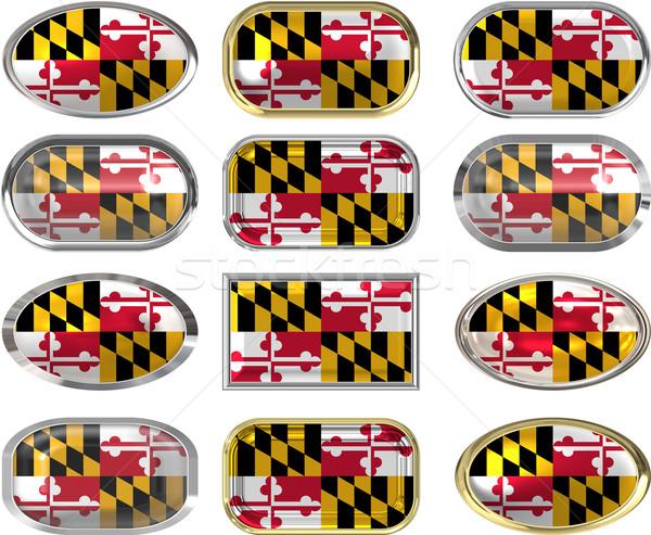 12 gombok zászló Maryland tizenkettő nagyszerű Stock fotó © clearviewstock