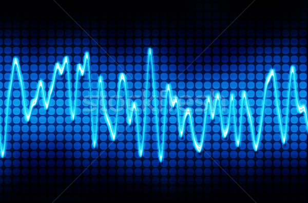 blue electronic sine sound wave Stock photo © clearviewstock