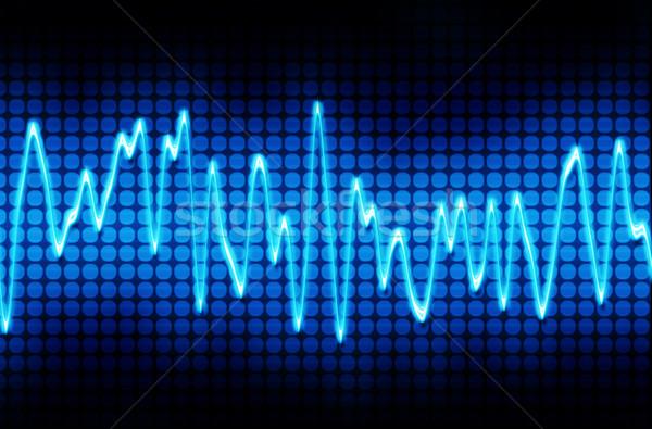 Blauw elektronische geluidsgolf geluid audio golf Stockfoto © clearviewstock