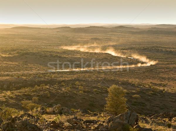 Racing deserto due auto polvere Foto d'archivio © clearviewstock