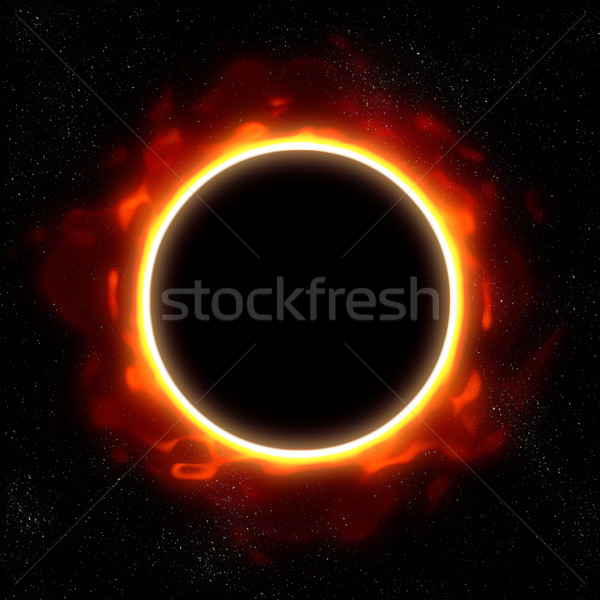 Eclipse espace illustration étoiles bleu nuit Photo stock © clearviewstock