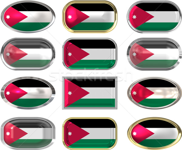 12 buttons of the Flag of Jordan Stock photo © clearviewstock