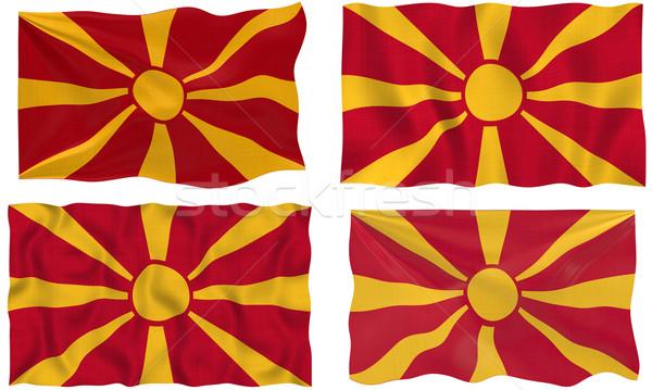 флаг Македонии изображение Сток-фото © clearviewstock
