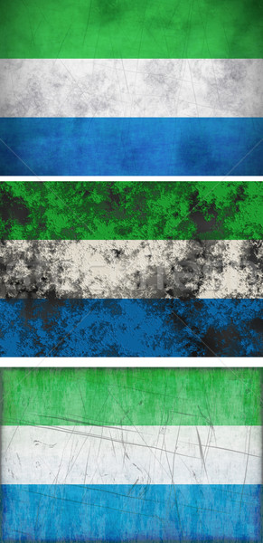 Flag of Sierra Leone Stock photo © clearviewstock
