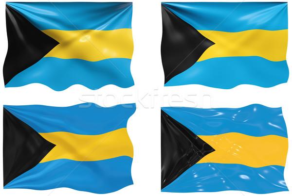 Stock fotó: Zászló · Bahamák · nagyszerű · kép