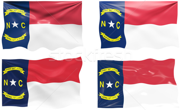 Bandeira Carolina do Norte imagem Foto stock © clearviewstock
