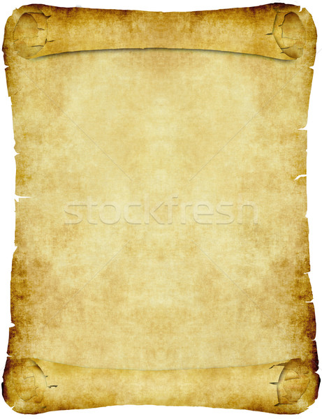 vintage parchment paper scroll Stock photo © clearviewstock