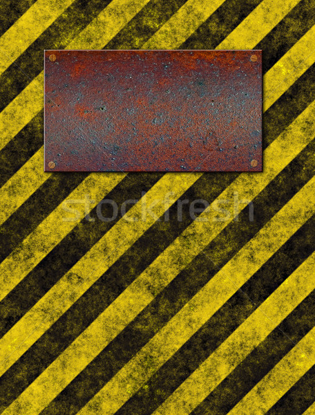 warning sign plaque Stock photo © clearviewstock
