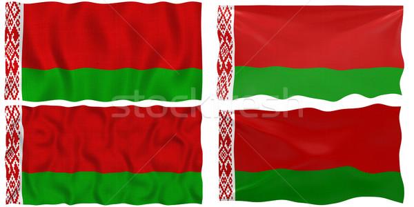 Bayrak Belarus muhteşem görüntü beyaz dört Stok fotoğraf © clearviewstock