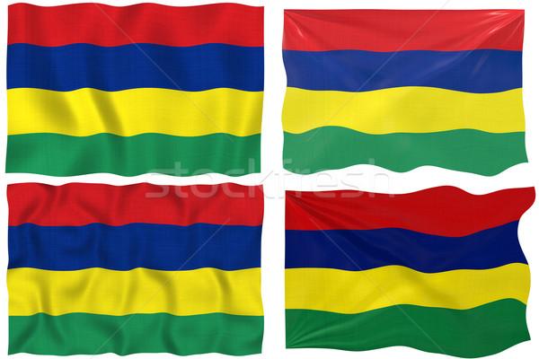 Bandera Mauricio imagen Foto stock © clearviewstock