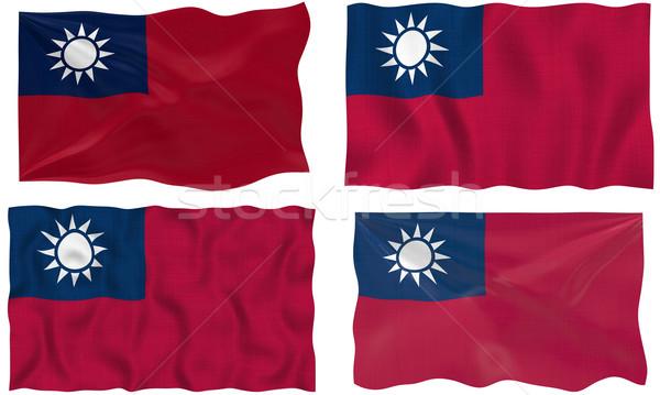 Bayrak Tayvan muhteşem görüntü Stok fotoğraf © clearviewstock
