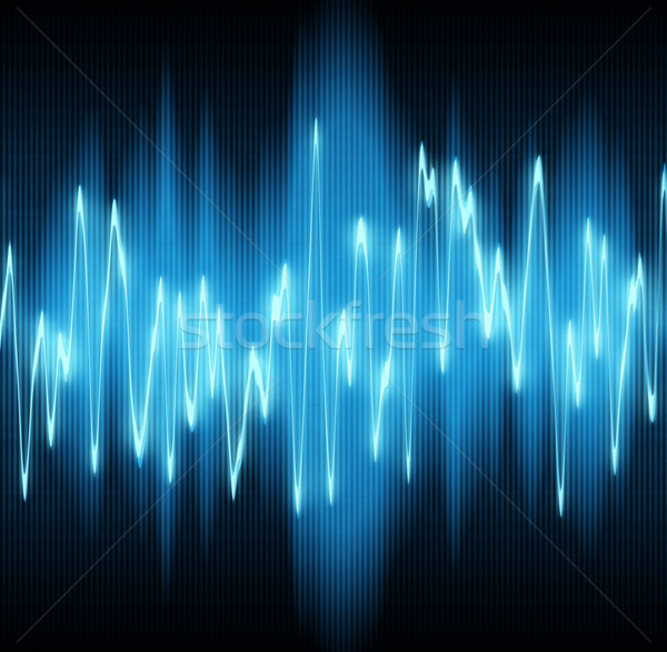 Schallwelle Sound Wellen Musik Hintergrund Welle Stock foto © clearviewstock