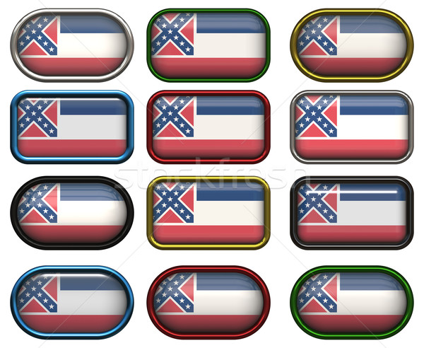 12 buttons of the Flag of Mississippi Stock photo © clearviewstock