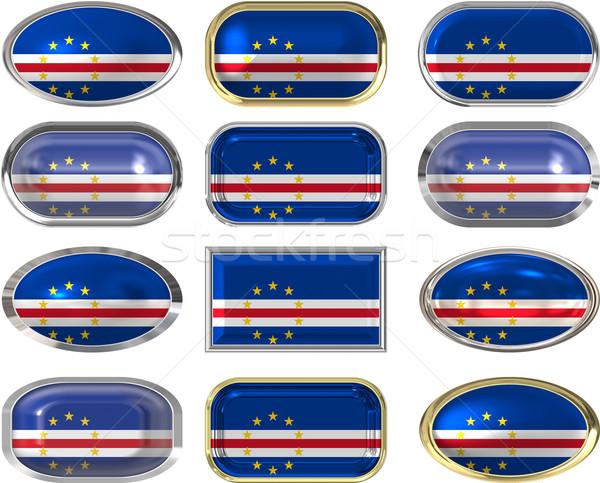 Doze botões bandeira tecido botão Foto stock © clearviewstock