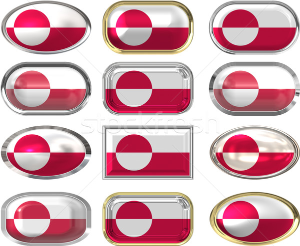 twelve buttons of the Flag of Greenland Stock photo © clearviewstock